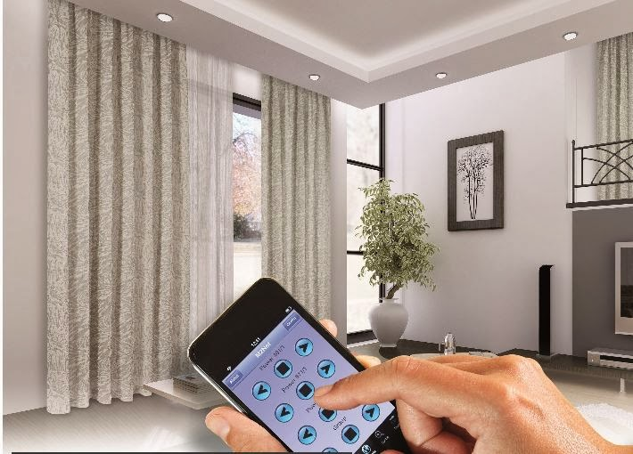 curtains l blinds l projector screens customized mood settings - Smart Curtains