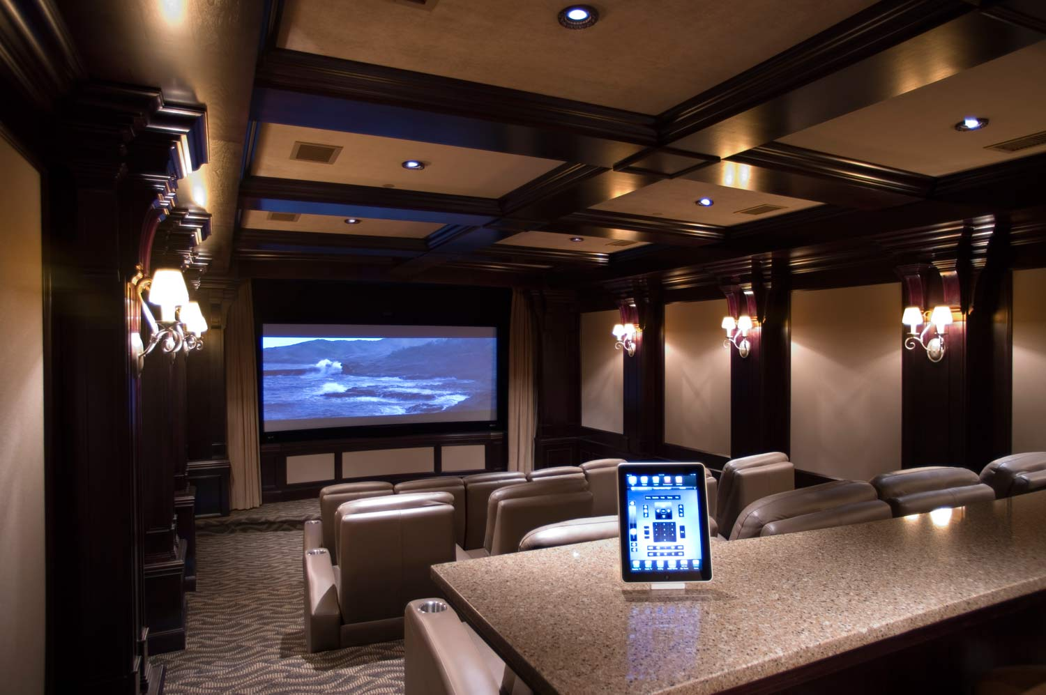 Home Theater Designers House Construction Planset of dining room